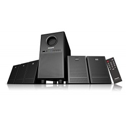 Philips Heartbeat SPA-3000U/94 5.1 Multimedia Speaker System (Black 28w RMS with USB & AUX Connection only)