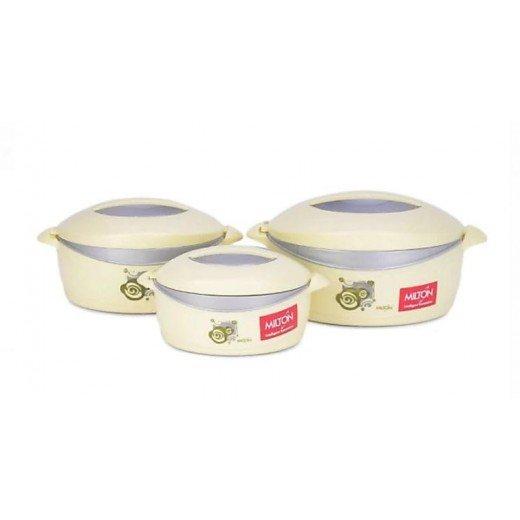 Milton Desire Gift Set Pack of 3 Casserole Set  (500 ml, 1000 ml, 1500 ml)