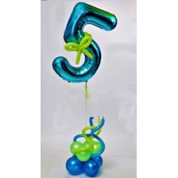 5th Birthday  Balloons Bouquet