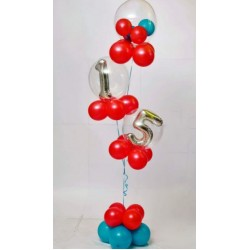 Red Colour Birthday  Balloons Bouquet