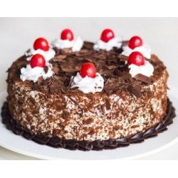 Egg less Black Forest Cherry Cool Cake - 1 kg (Egg less)